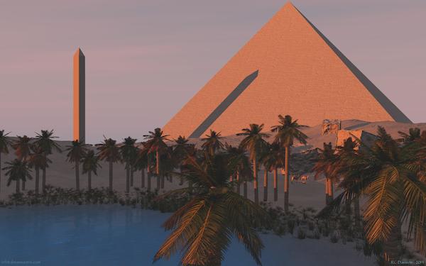 Desert Oasis Sunrise